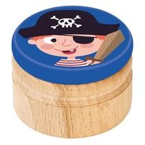 melktanddoosje piraat 5 cm blauw