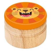 melktanddoosje leeuw 5 cm oranje