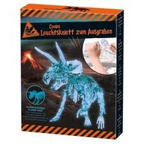 dinosaurus opgravingsset glow in the dark Triceratops