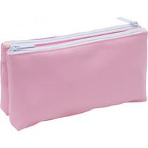 etui Soft Touch Pastel dubbelvlaks 23 x 12 cm roze