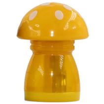 gum en puntenslijper junior 4,4 x 4,5 x 6 cm geel/wit