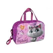 gymtas Cats meisjes 40 x 26 x 21 cm polyester roze