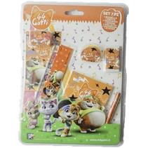 schoolset Cats junior oranje 7-delig