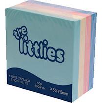 post-it Cube 7,5 cm groen/geel/roze/blauw 400 stuks