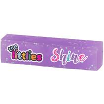 gum Glitter Shine junior 6 x 1,5 x 1,5 cm rubber lila