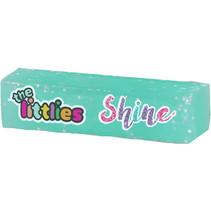 gum Glitter Shine junior 6 x 1,5 cm rubber mintgroen
