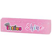 gum Glitter Shine meisjes 6 x 1,5 x 1,5 cm rubber roze