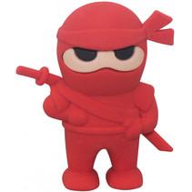 gum Samurai junior 46 x 19 mm rubber rood