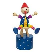 Drukfiguren clown rode muts