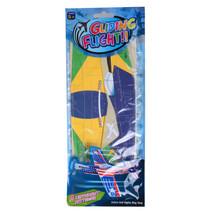 werpvliegtuig Brazil 29 x 12 cm foam geel 4-delig