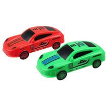auto's Racing Running Down 7,5 cm rood/groen 2 stuks
