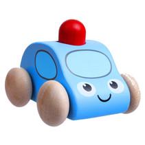 speelgoedauto Police 72 x 70 x 60 mm hout blauw