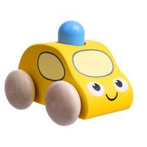 speelgoedauto Medic 72 x 70 x 60 mm hout geel