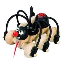 trekspeelgoed spin junior 112 x 106 mm hout zwart