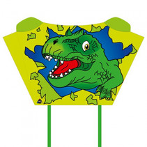 vlieger Sleddy T-Rex 76 cm polyester groen 2-delig