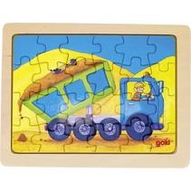 houten legpuzzel Kiepwagen 19 x 14,5 cm 24 stukjes