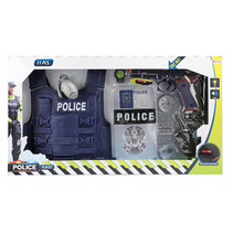 speelset politie jongens polykatoen 11-delig