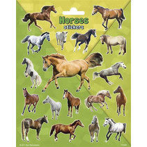stickers Large Horses 20 x 15 cm groen 18 stuks