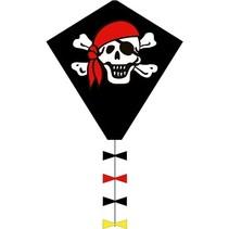 eenlijnskindervlieger Eddy Jolly Roger 45 x 50 cm zwart