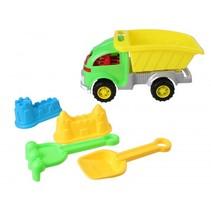 strandset met kiepwagen 5-delig groen/geel