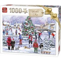 legpuzzel Winter Fun 28 x 24 cm karton 1000-delig