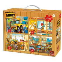 legpuzzel 4-in-1 Kiddy Construction Team 12-24 stukjes