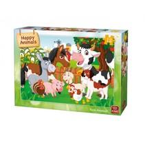 kinderpuzzel Farm Animals 12 stuks