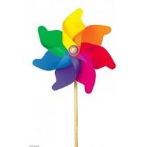 Regenboogwindmolen H76X Daimeter 32 cm
