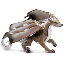 speelfiguur wolfdraak junior 20,3 x 11,45 cm grijs/bruin