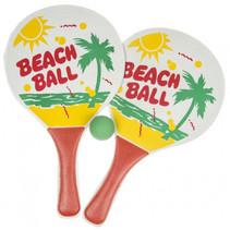 beachballset junior 34 cm hout rood 3-delig