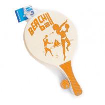 beachballset 38 x 24 cm hout 3-delig oranje