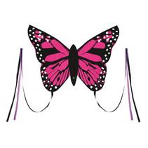 vlieger Bella Butterfly junior 80 cm roze 4-delig