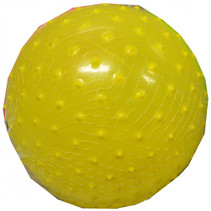 bal noppen junior 16 cm geel