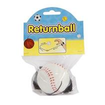 terugkaatsbal honkbal junior 6 cm schuim wit