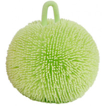 knijpbal fluffy junior 9 cm siliconen groen