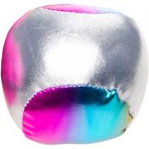 bal voor blikgooien metallic 4 cm zilver per stuk