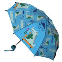 paraplu junior 52 PVC blauw