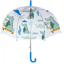 paraplu junior 42 x 8 cm PVC wit/blauw/groen