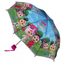 paraplu Dreamy junior 52 cm polyester blauw/paars
