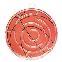 geduldspel doolhof basketbal junior 5,5 cm oranje