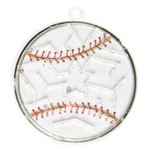 geduldspel doolhof honkbal junior 5,5 cm wit
