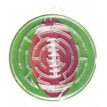 geduldspel doolhof rugby junior 5,5 cm bruin/groen