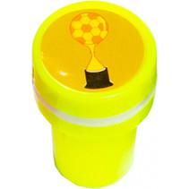 stempel voetbaltroffee junior 4 x 2,5 cm geel