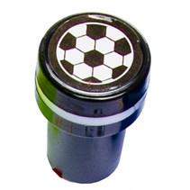 stempel voetbal junior 4 x 2,5 cm zwart