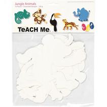 jungledieren TeACH Me 14 - 25 cm karton wit 16 stuks
