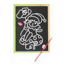 kraskaart kabouter junior 9 x 13 cm zwart 2-delig
