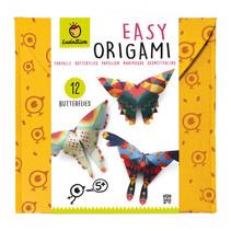 origami Vlinders junior 22,5 cm papier/vilt 12-delig