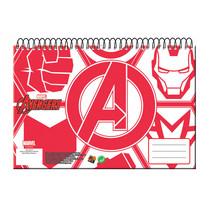 schetsblok Avengers junior A4 papier rood/wit