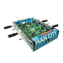 voetbaltafel Man City 50,5 x 37 cm hout lichtblauw/groen