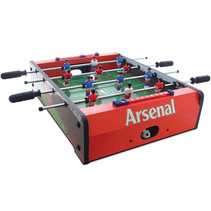 voetbaltafel Arsenal 50,5 x 37 cm hout rood/groen